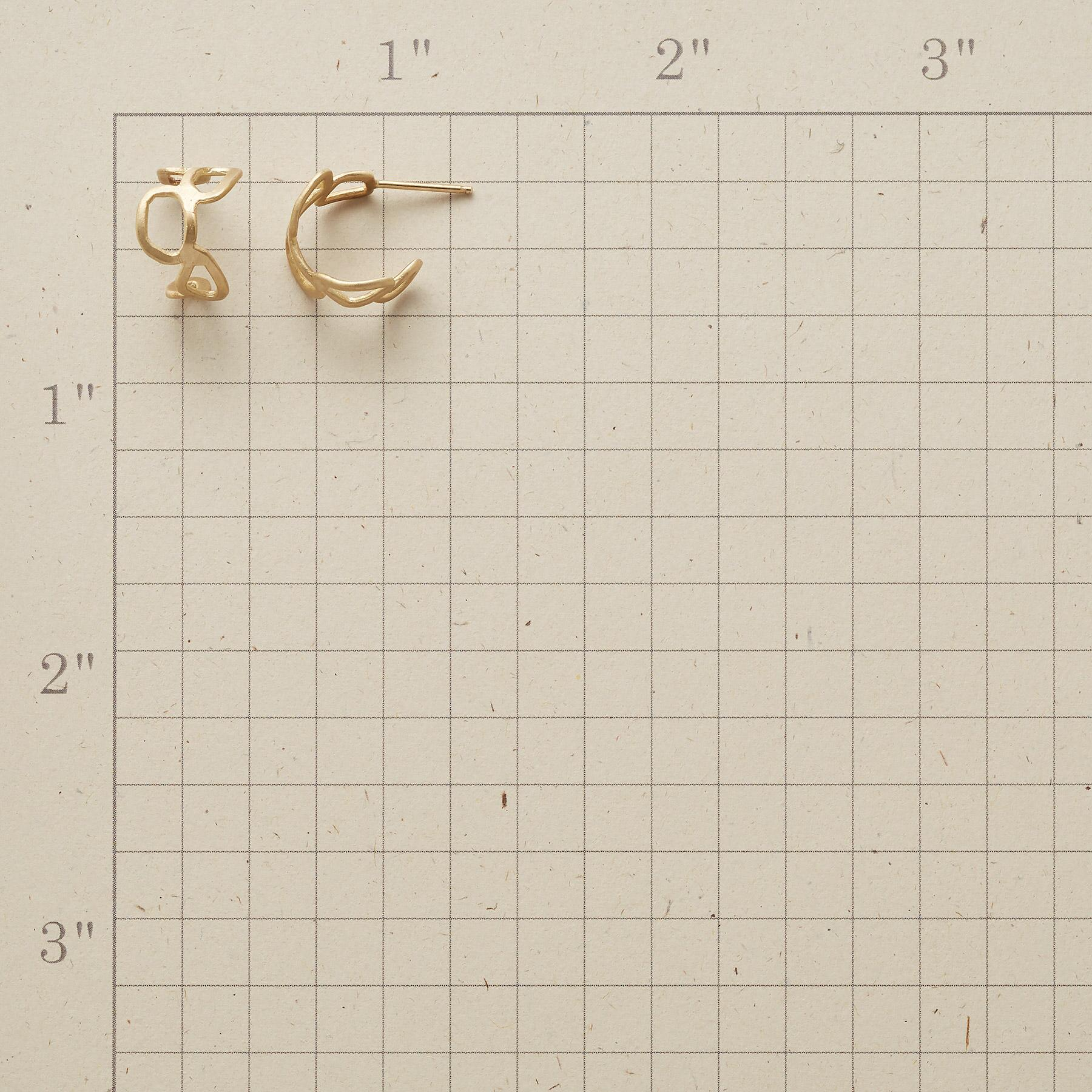 GOLD MEANDER EARRINGS: View 2