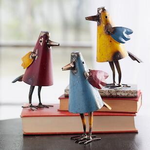 THREE'S A CROWD BIRDS, SET OF 3