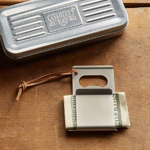 STANLEY BLACK & DECKER MONEY CLIP WITH BOTTLE OPENER