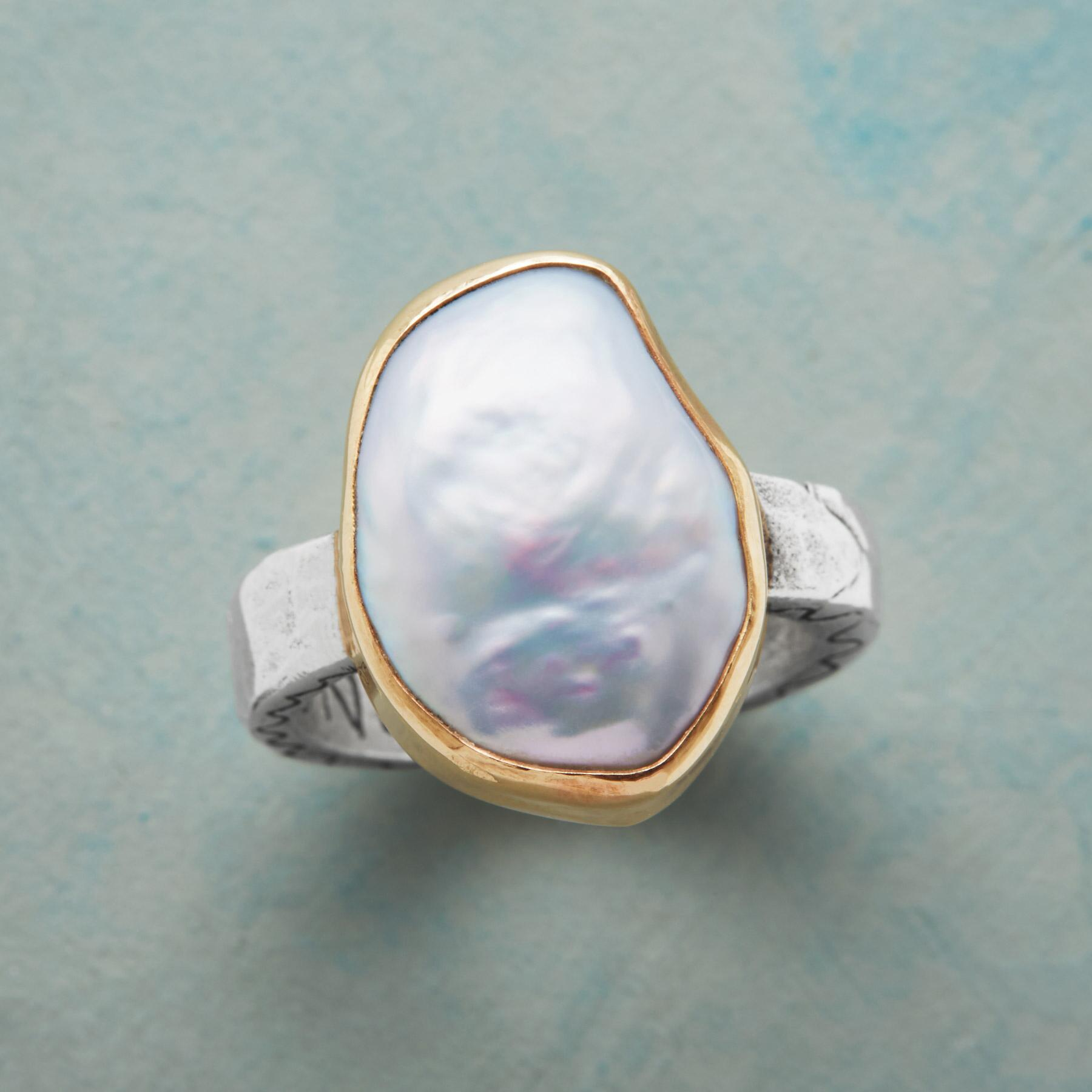 GRACE AND VIRTUE PEARL RING: View 1