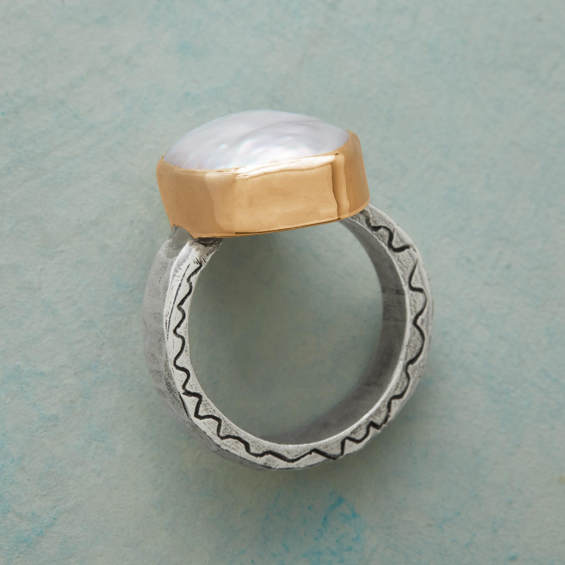 GRACE AND VIRTUE PEARL RING: View 2