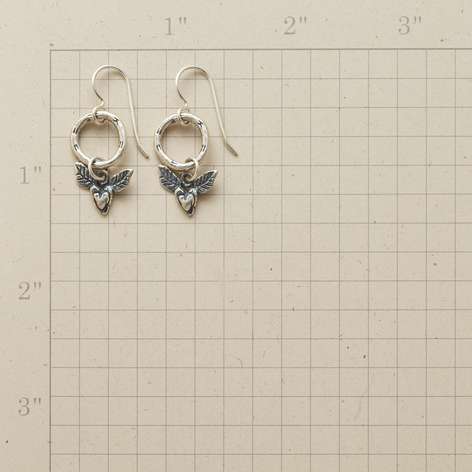 WINGED HEART EARRINGS: View 2