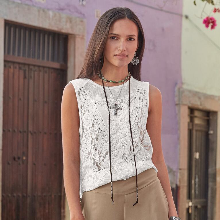CLARENDON LACE TOP