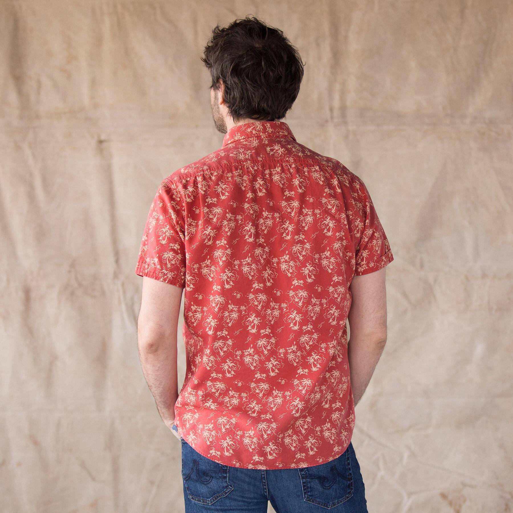 PALM ISLAND SHIRT, RED: View 2