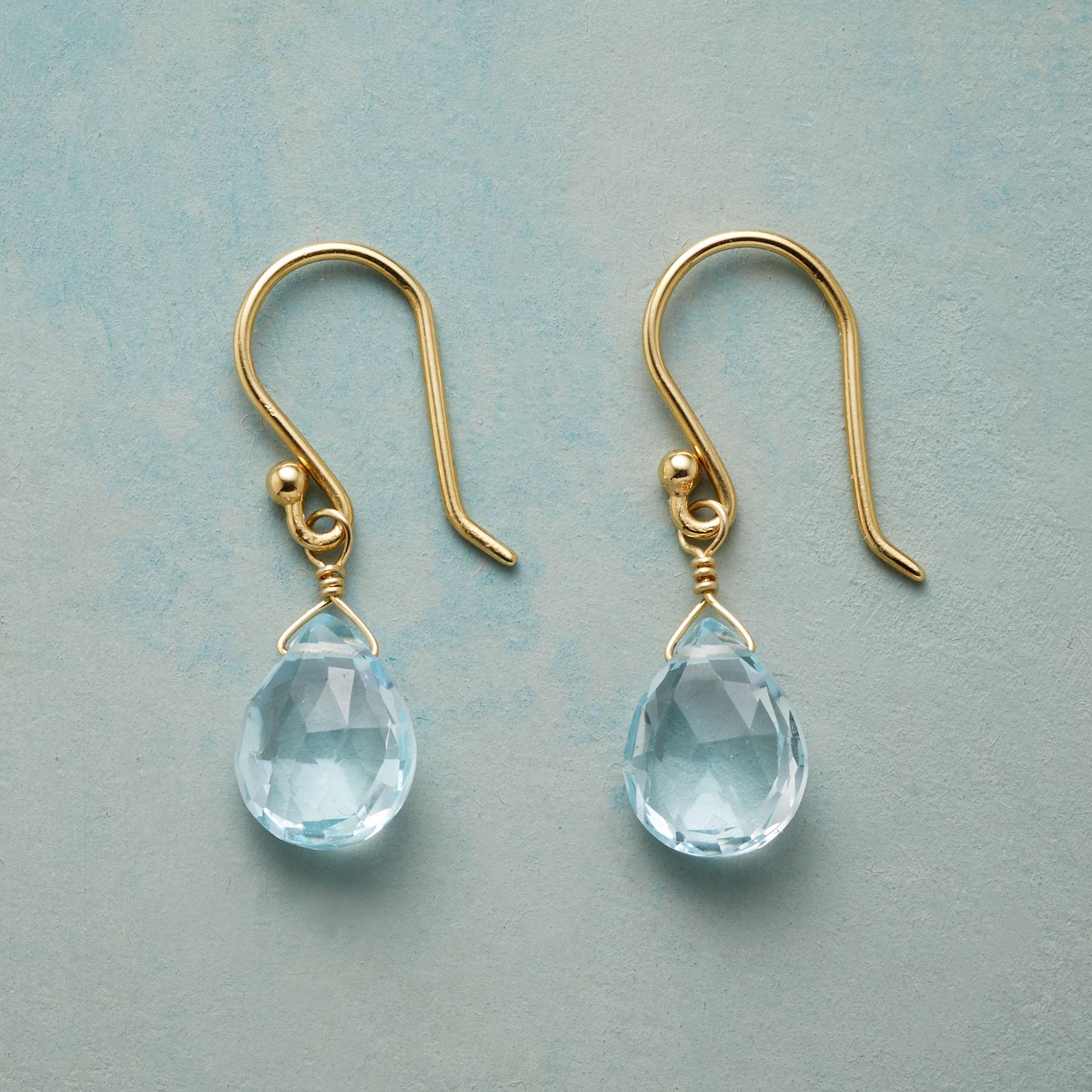 SKY BLUE TOPAZ EARRINGS: View 1