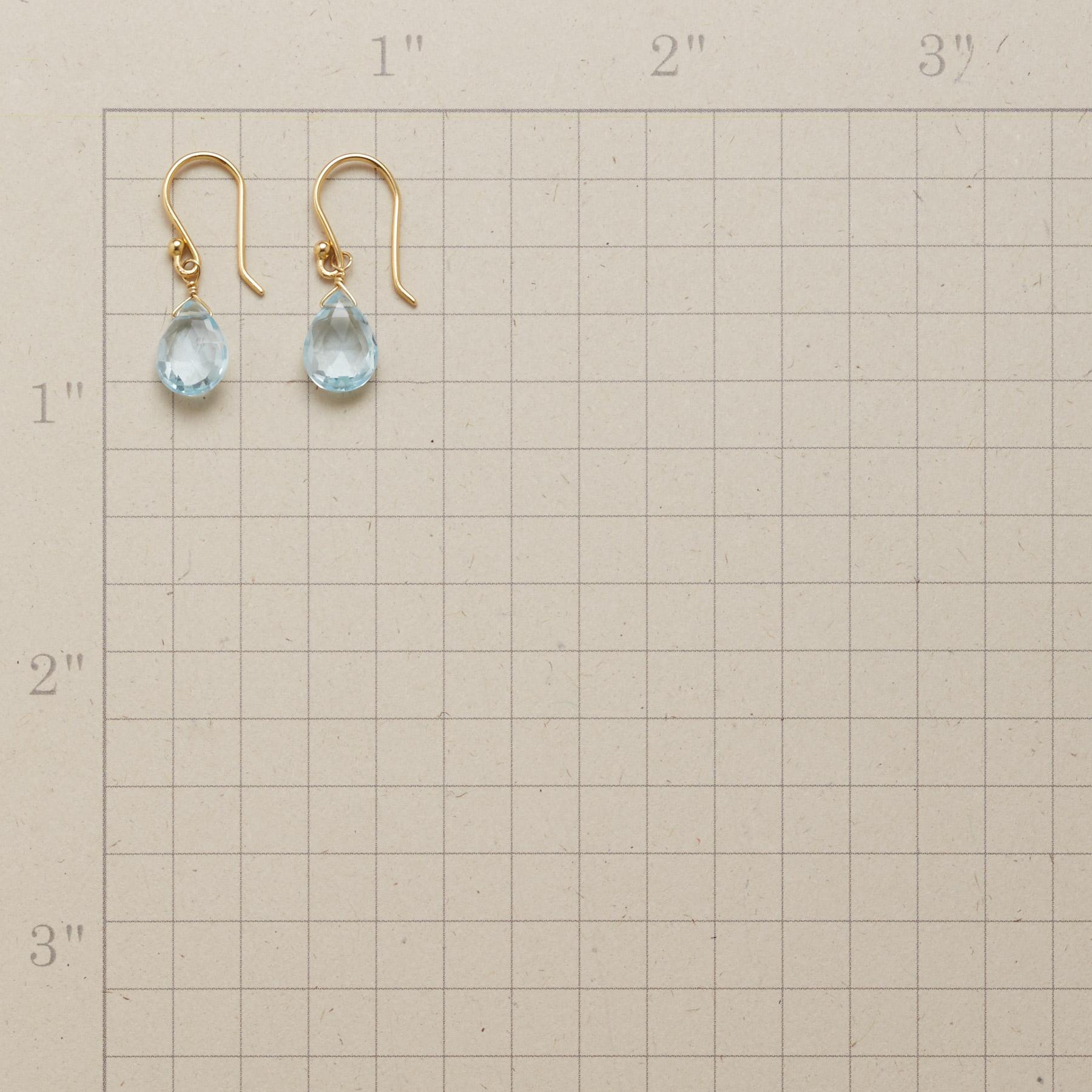 SKY BLUE TOPAZ EARRINGS: View 2