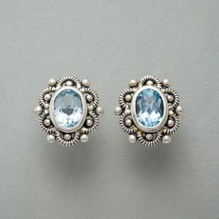 PORTRAIT IN BLUE EARRINGS