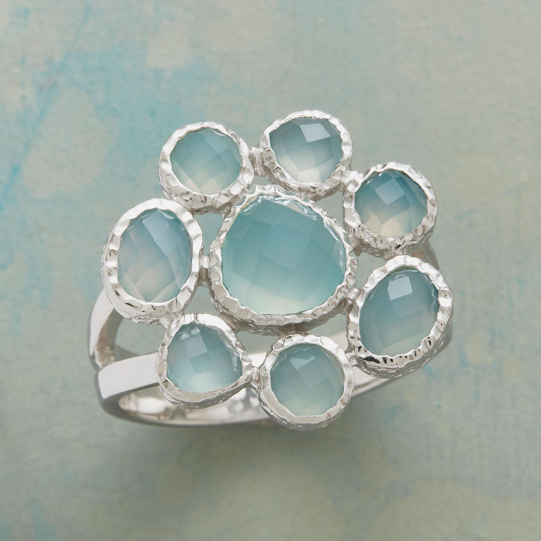 CHALCEDONY FLOWER RING: View 1