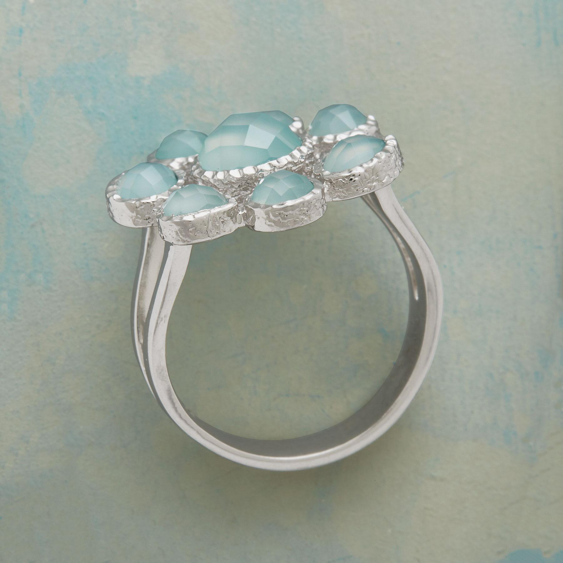CHALCEDONY FLOWER RING: View 2