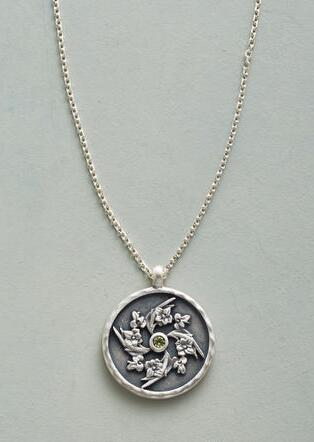 BLOOMING BIRTHSTONE NECKLACE