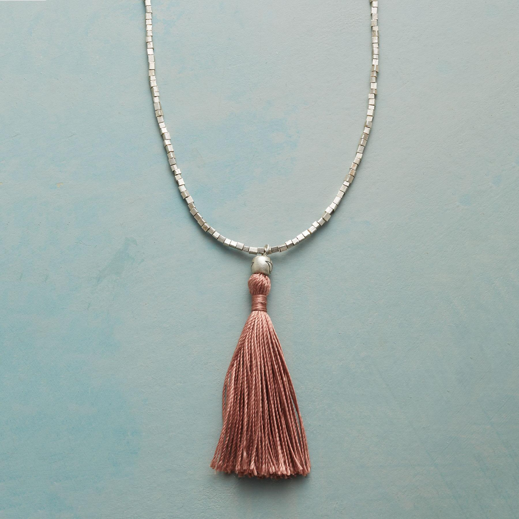 CUBE AND TASSEL NECKLACE: View 1