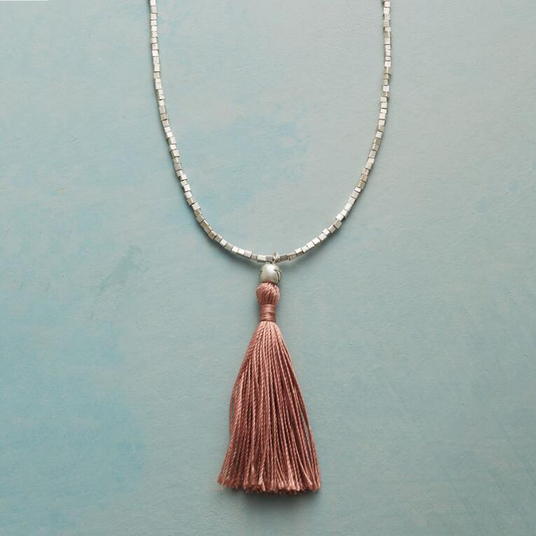 CUBE AND TASSEL NECKLACE