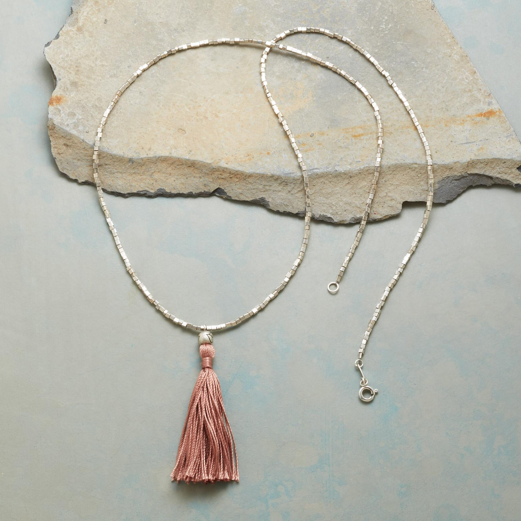 CUBE AND TASSEL NECKLACE: View 2