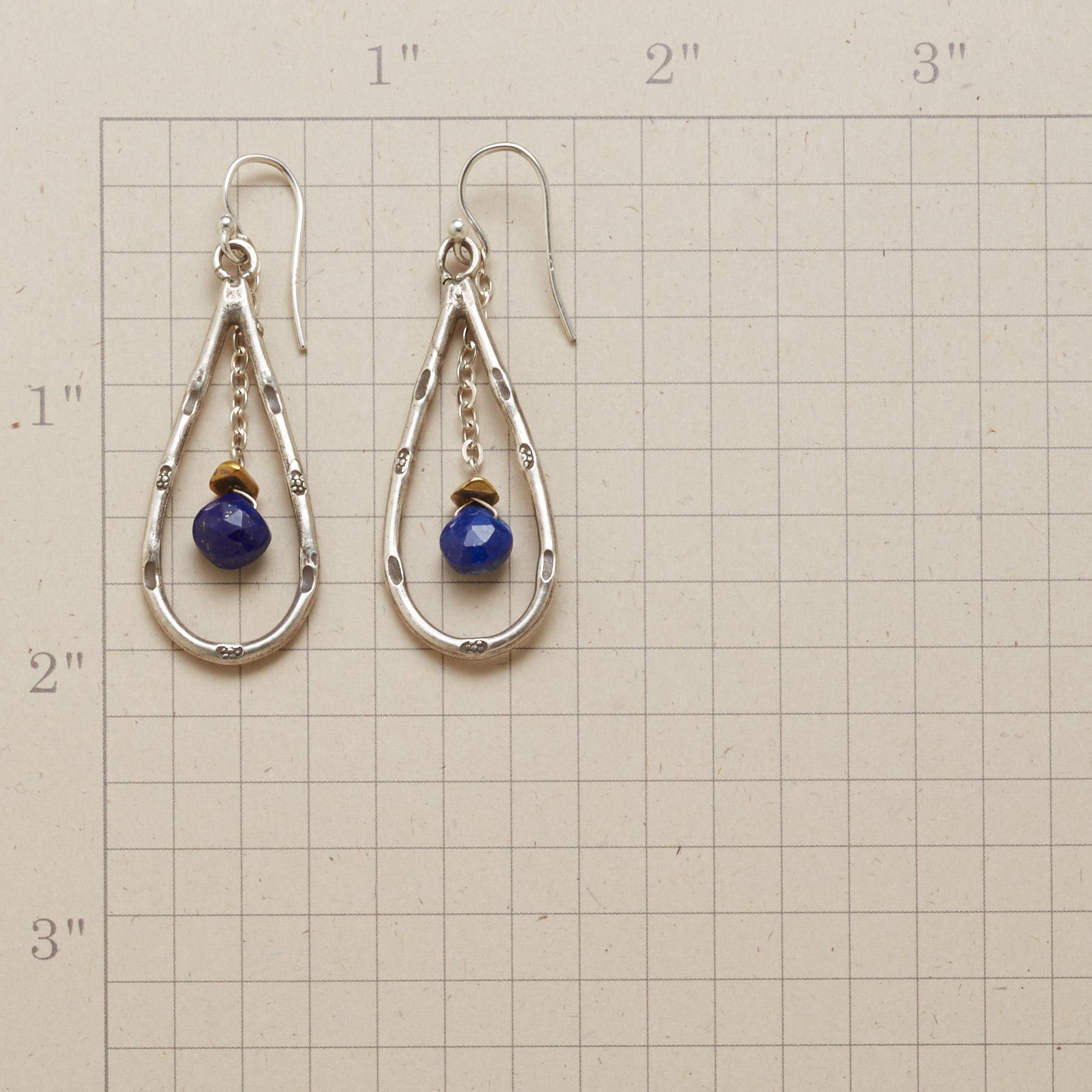 LAPIS DROPLET EARRINGS: View 2