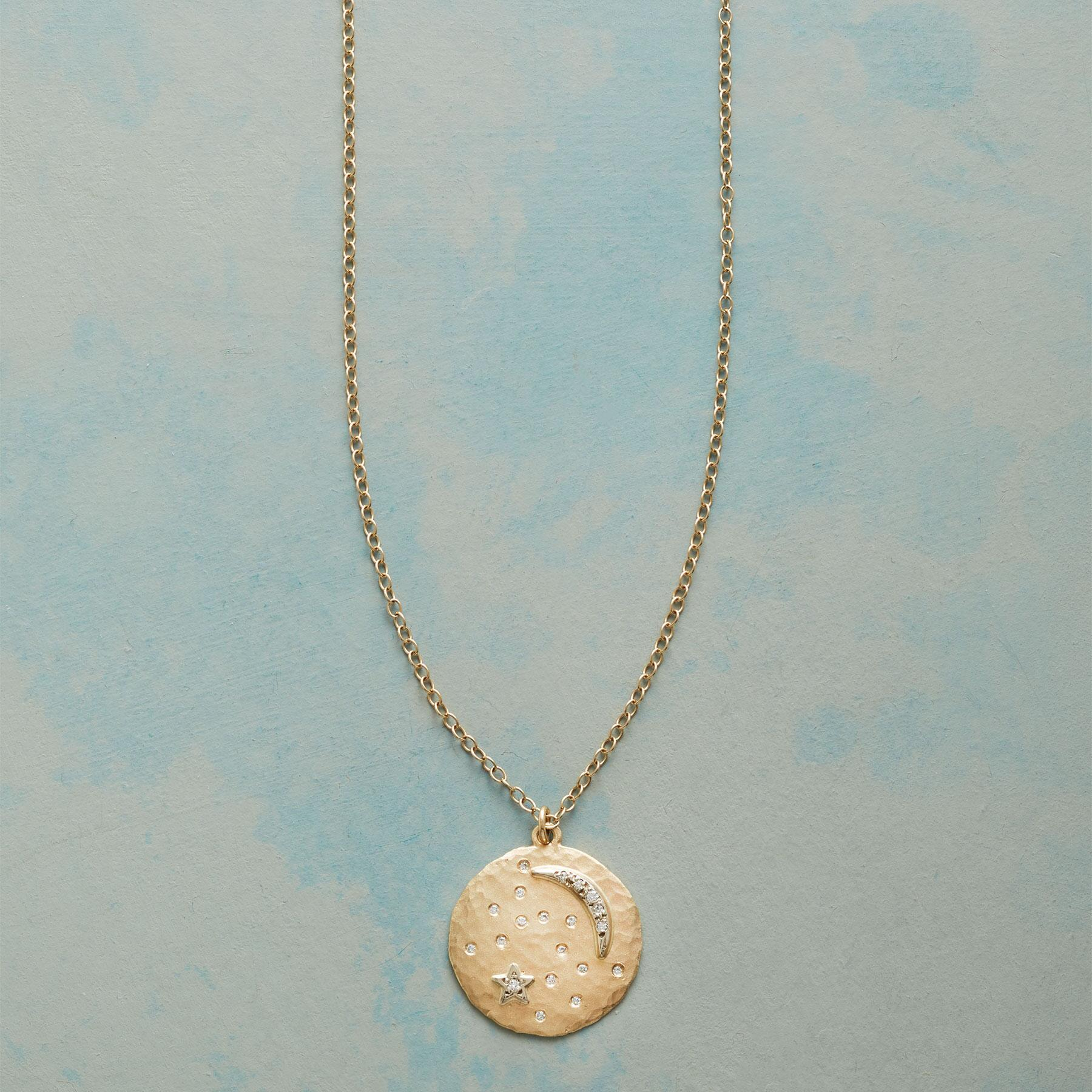 MOON DISK NECKLACE: View 1