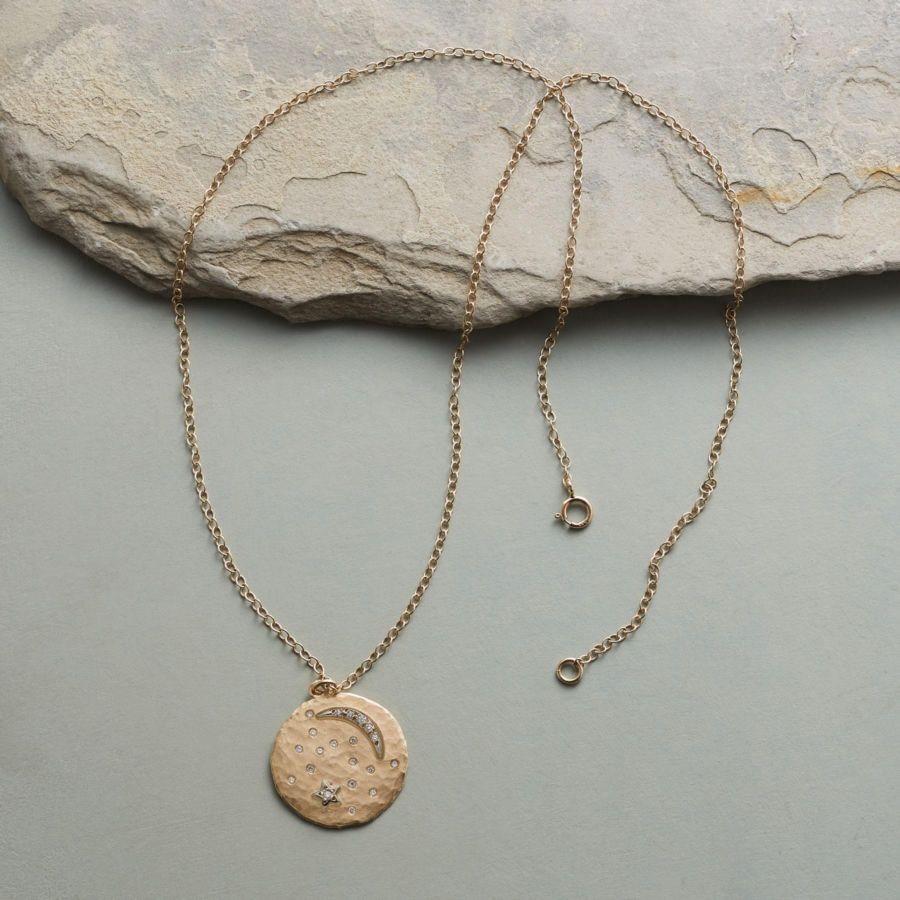 MOON DISK NECKLACE: View 2