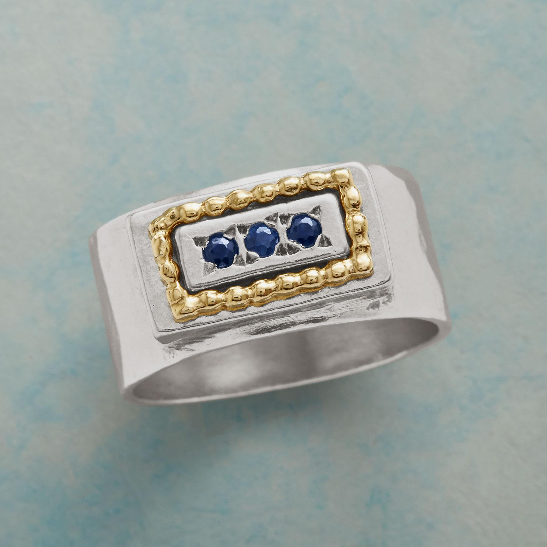 BLUE BUTTERFLY RING: View 1