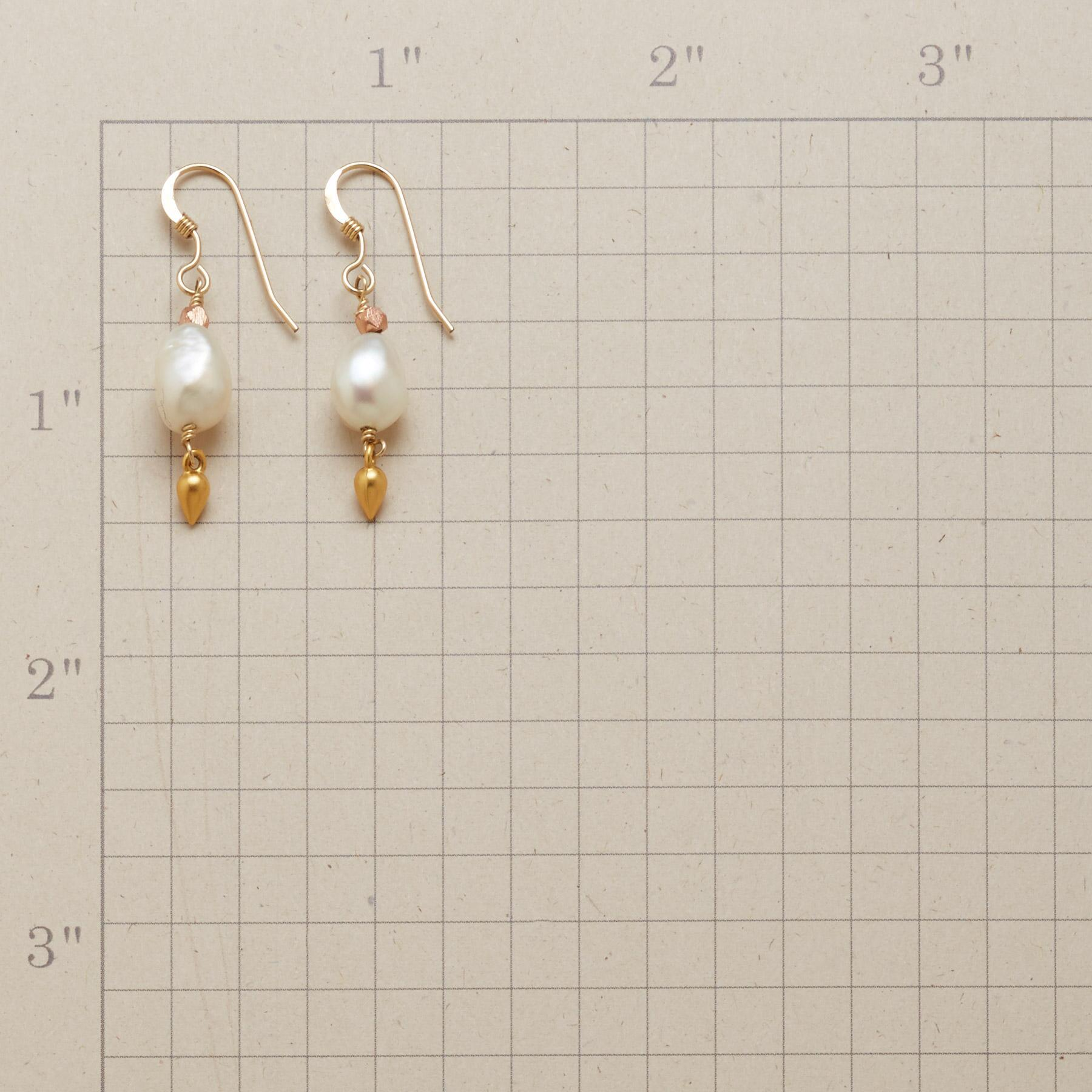 BRASSY PEARL EARRINGS: View 2
