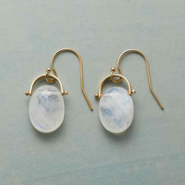 HORSESHOE MOONSTONE EARRINGS