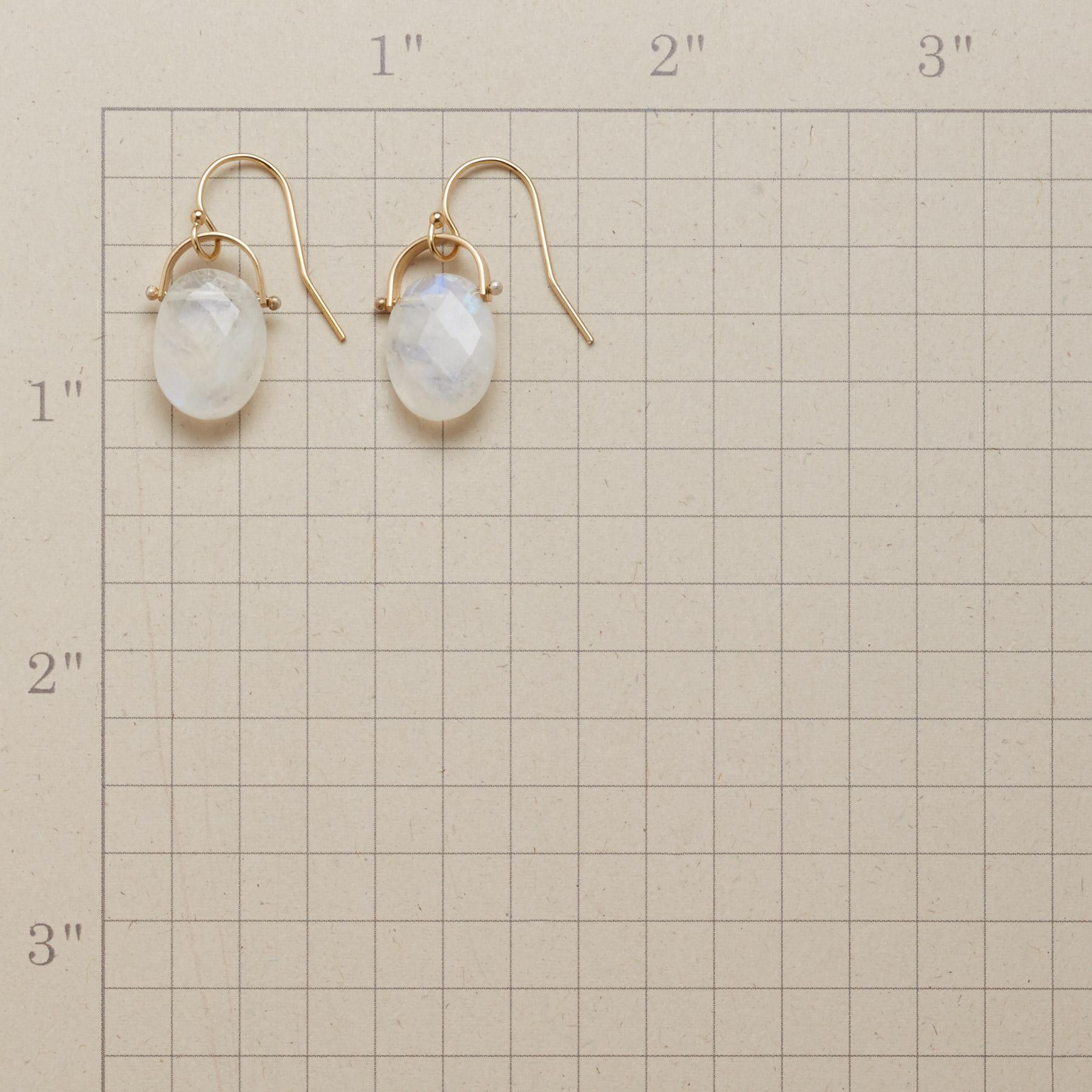 HORSESHOE MOONSTONE EARRINGS: View 2