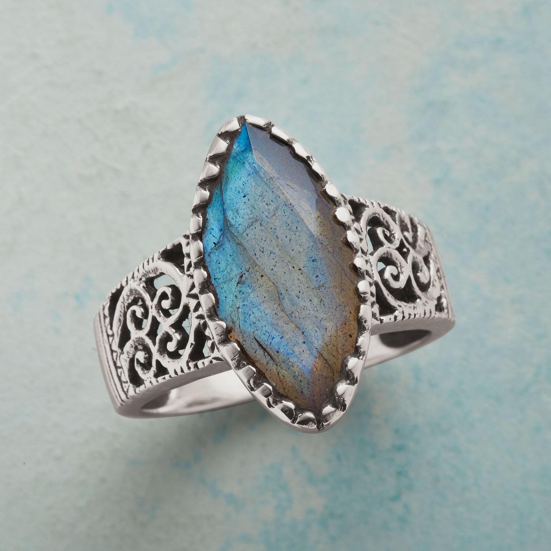 LABRADORITE MARQUIS RING: View 1