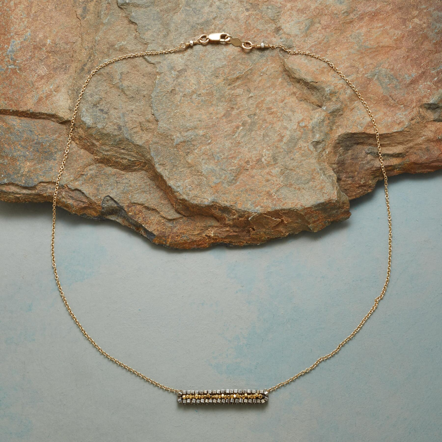 WOVEN INGOT NECKLACE: View 2