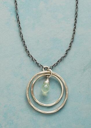 PREHNITE IN ORBITS NECKLACE