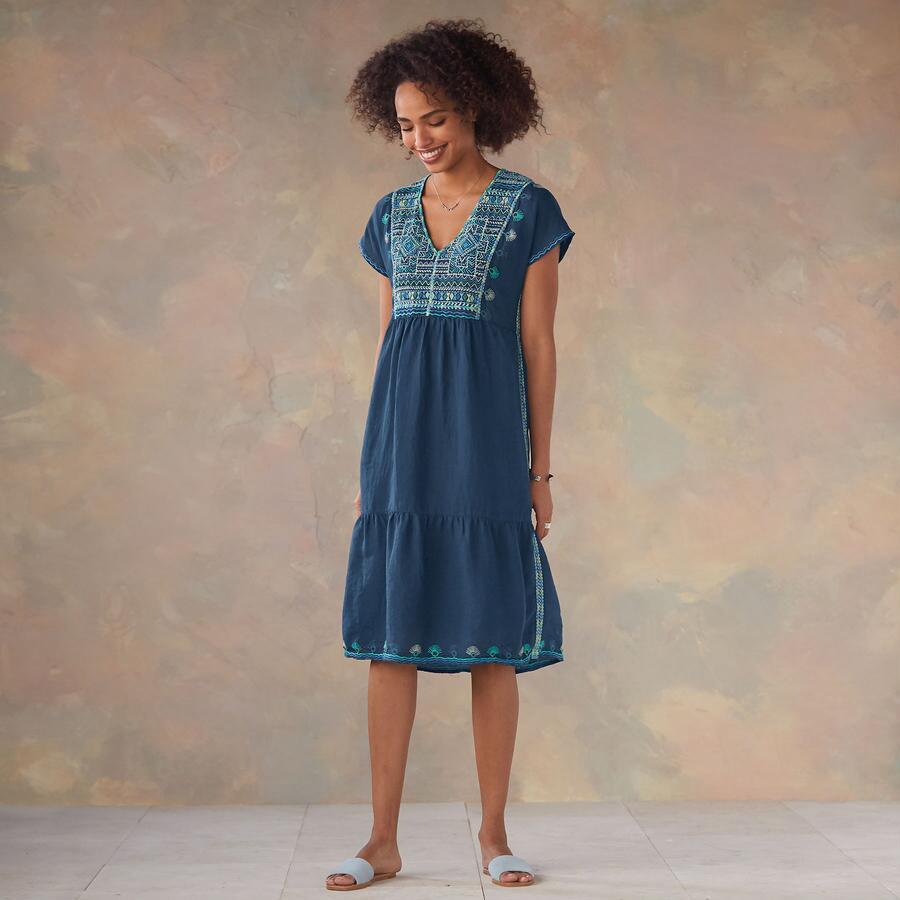 EMBROIDERED TWILIGHT DRESS