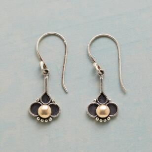 HALF LOTUS EARRINGS