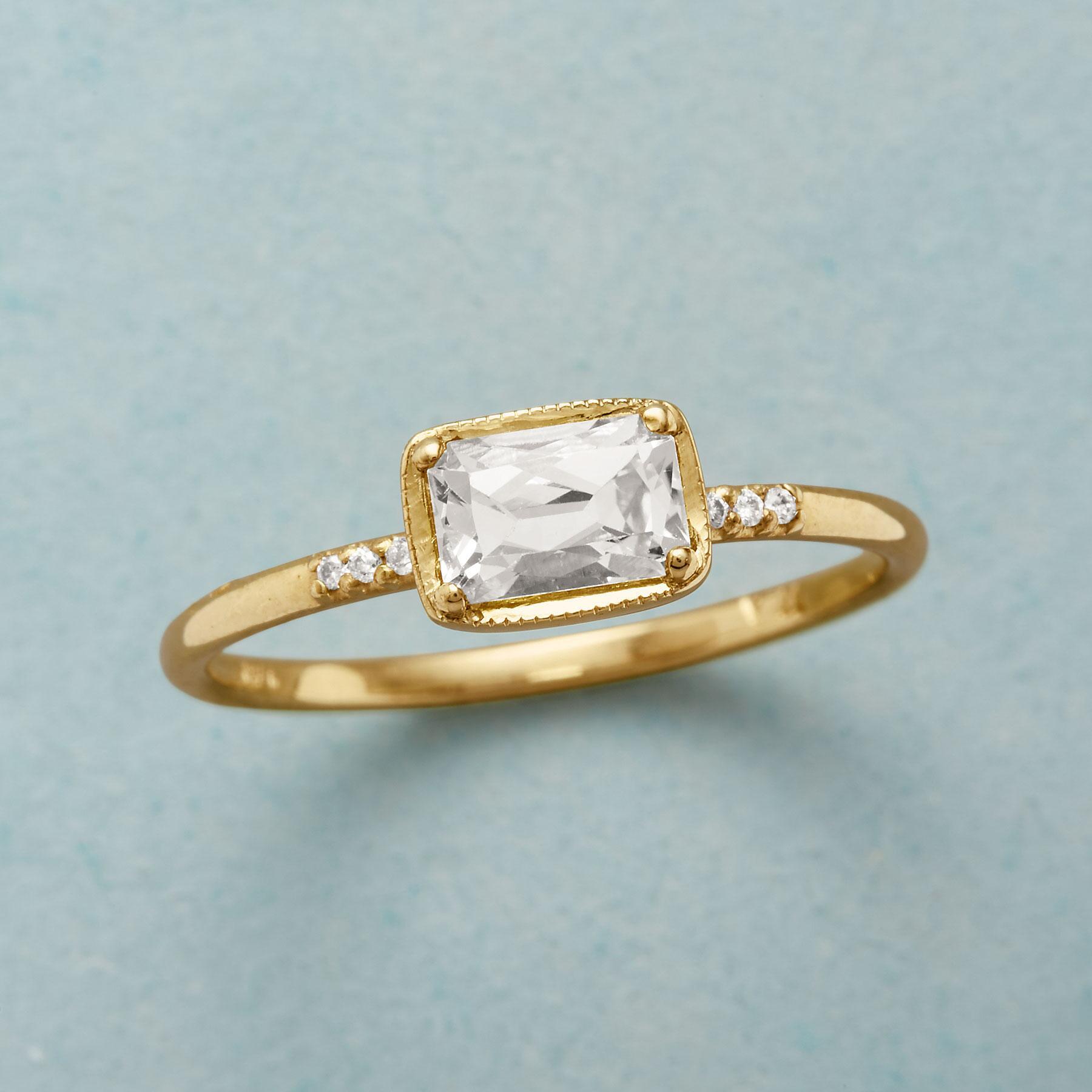 KARINA WHITE SAPPHIRE RING: View 1