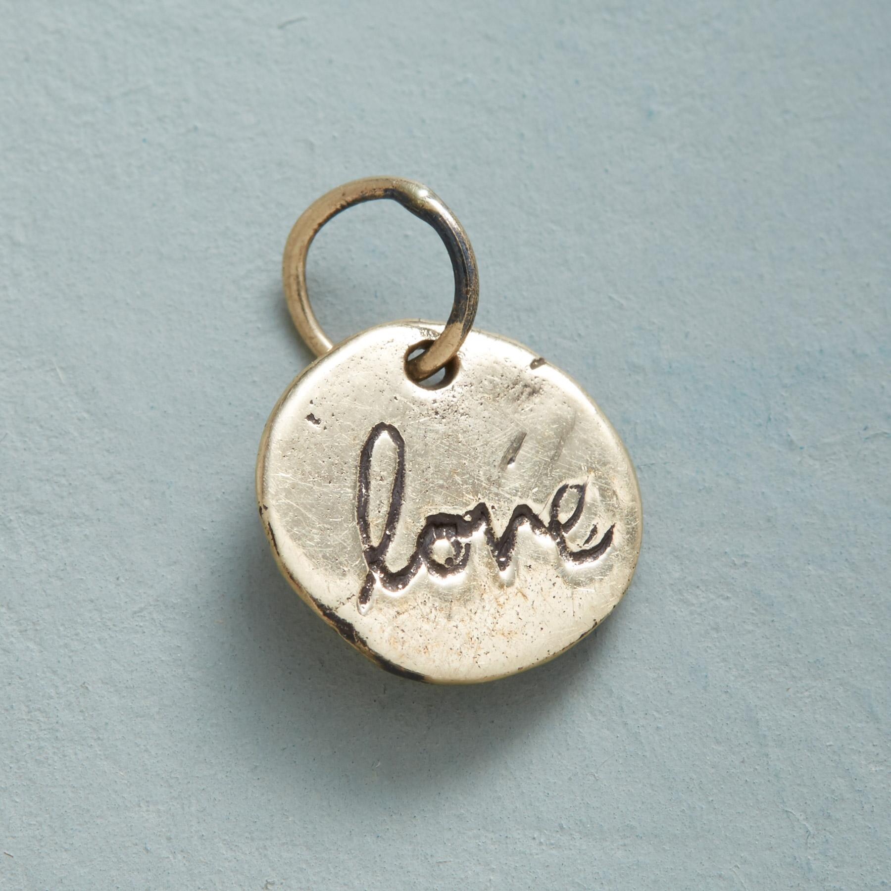 GOLD LETTERS OF LOVE CHARM: View 2