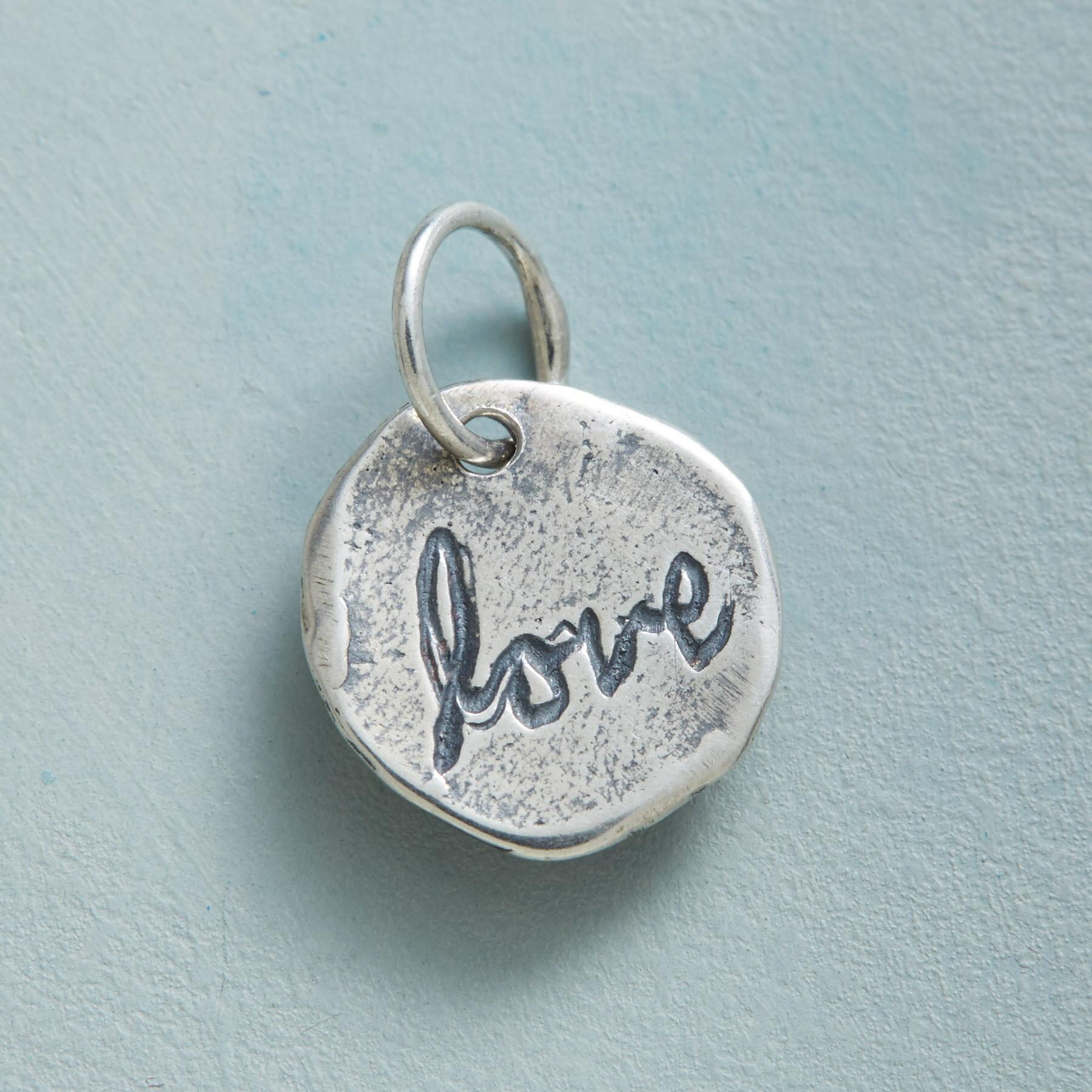 STERLING SILVER LETTERS OF LOVE CHARM: View 2