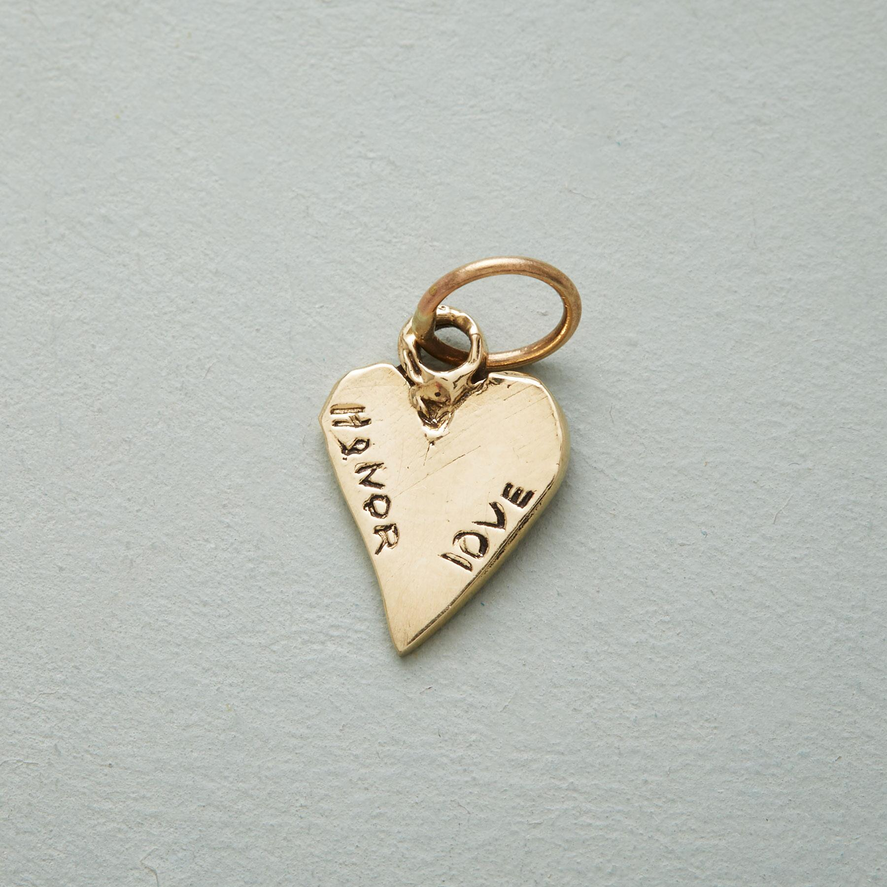GOLD LOVE & HONOR CHARM: View 1
