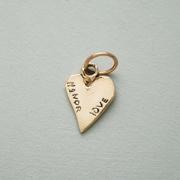 GOLD LOVE & HONOR CHARM