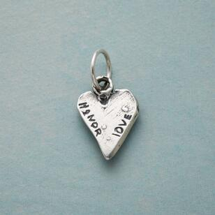 STERLING SILVER LOVE & HONOR CHARM