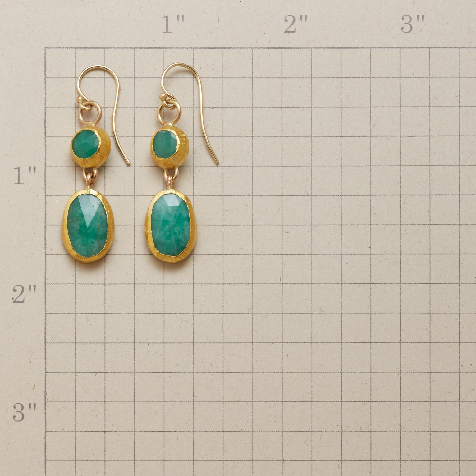 WRAPPED EMERALD EARRINGS: View 2