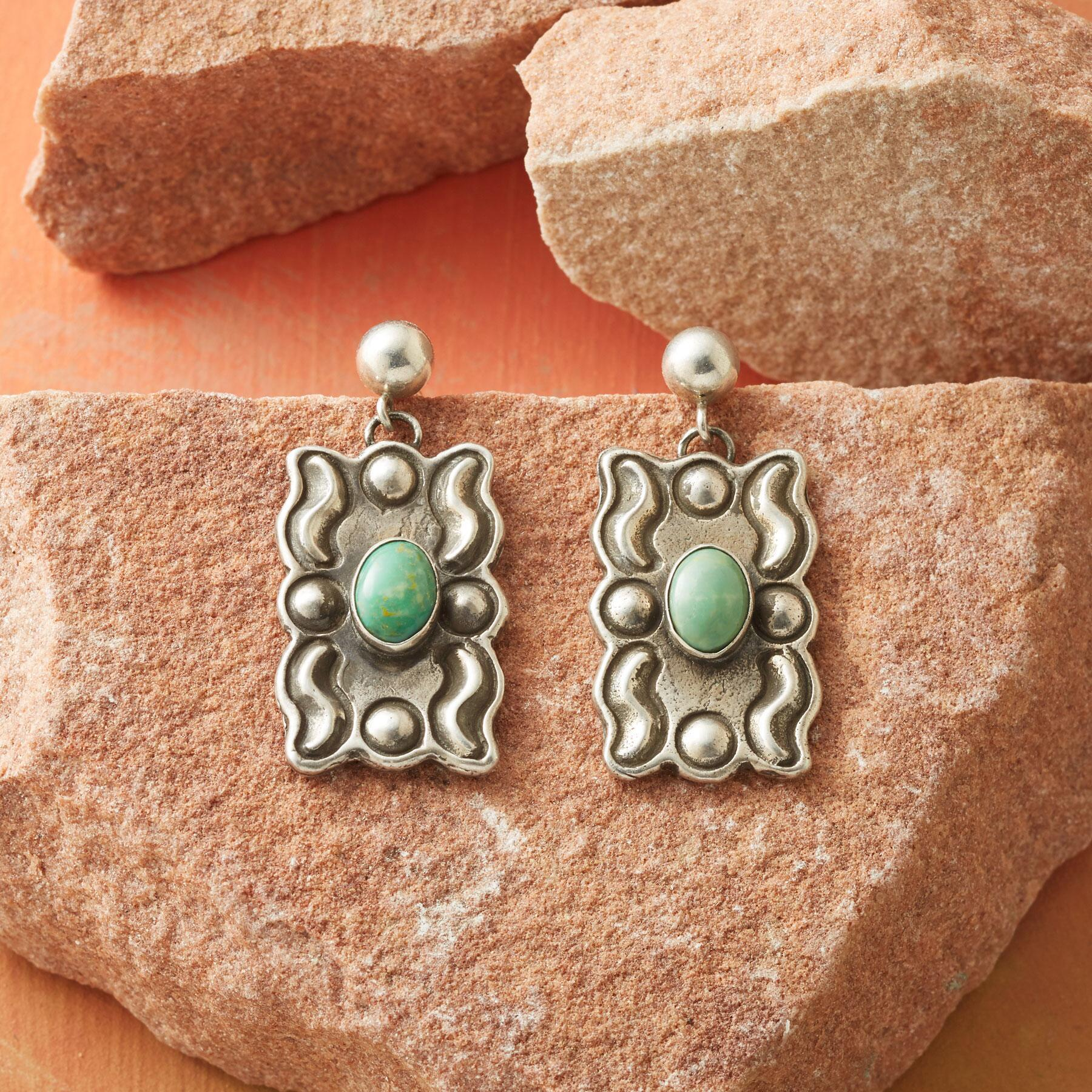 TURQUOISE GALLERY EARRINGS: View 1