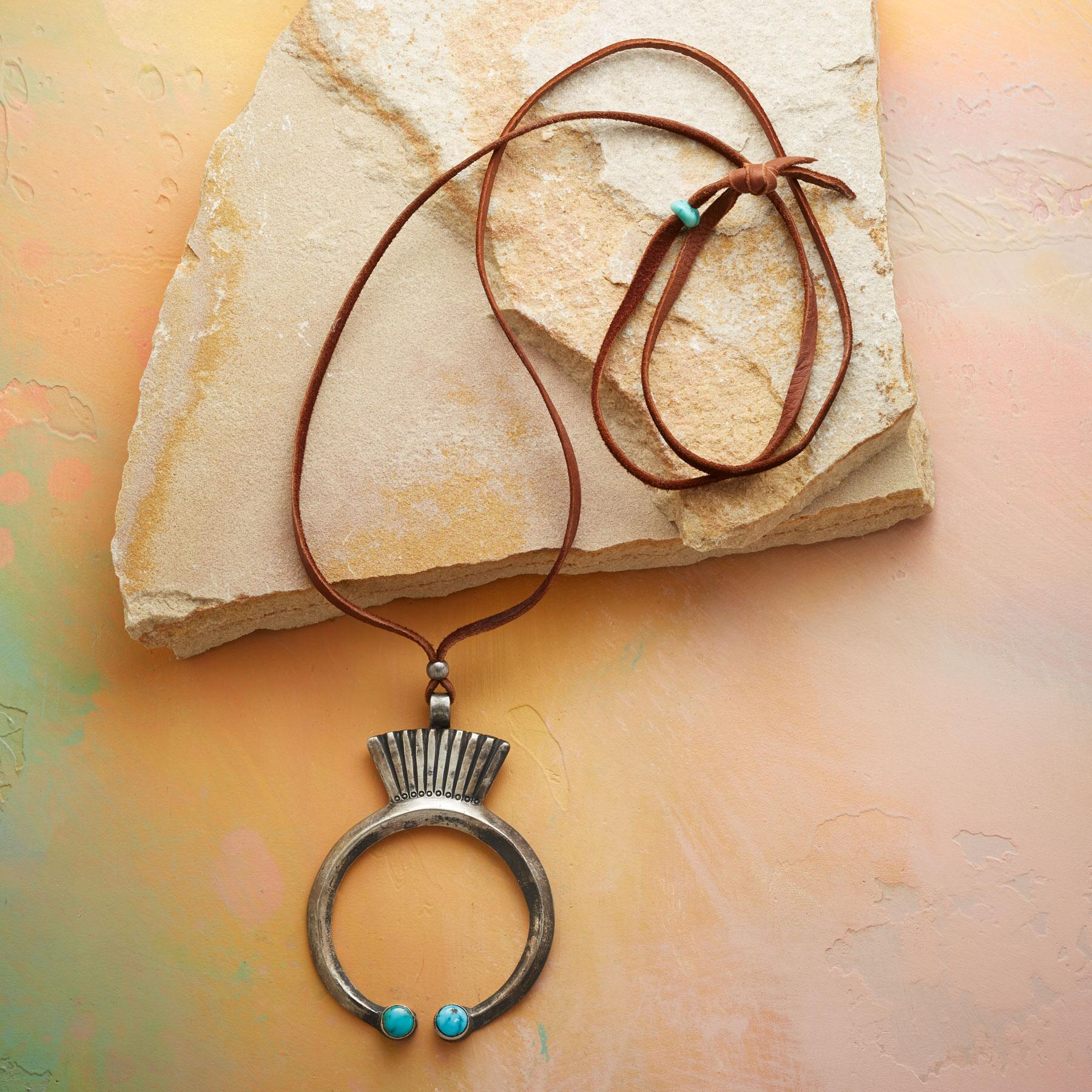 TURQUOISE-TIPPED NAJA NECKLACE: View 2