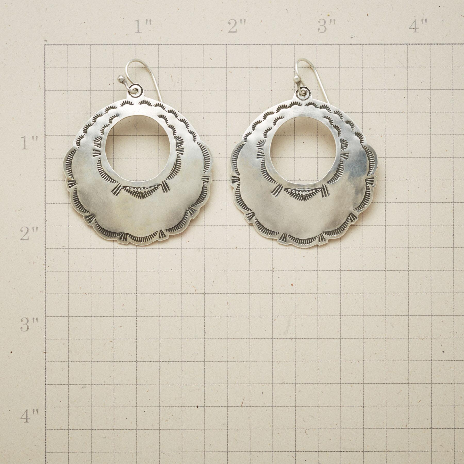 STERLING CONCHA HOOP EARRINGS: View 2
