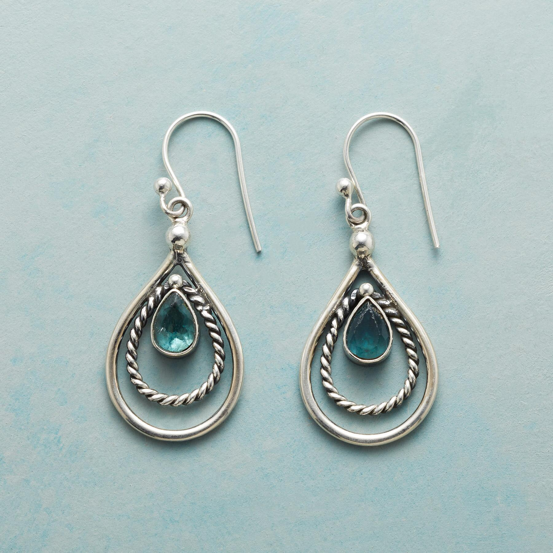 ROPED APATITE EARRINGS: View 1