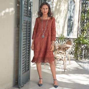 ELLISON EYELET DRESS