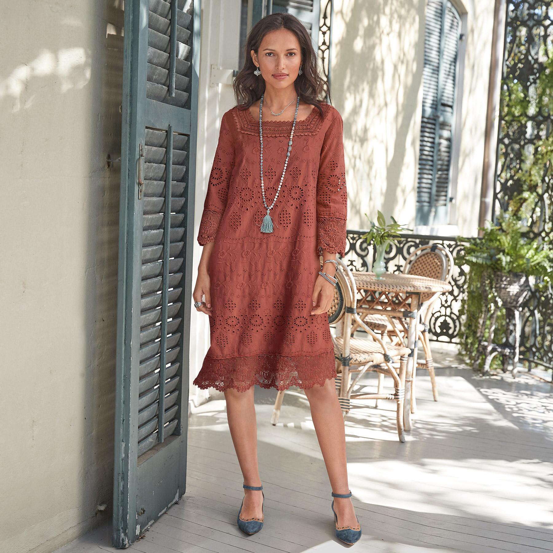 ELLISON EYELET DRESS: View 1