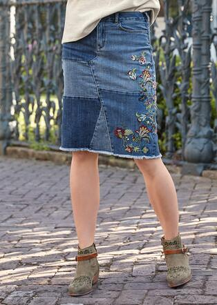 PATCHWORK BLOOMS SKIRT