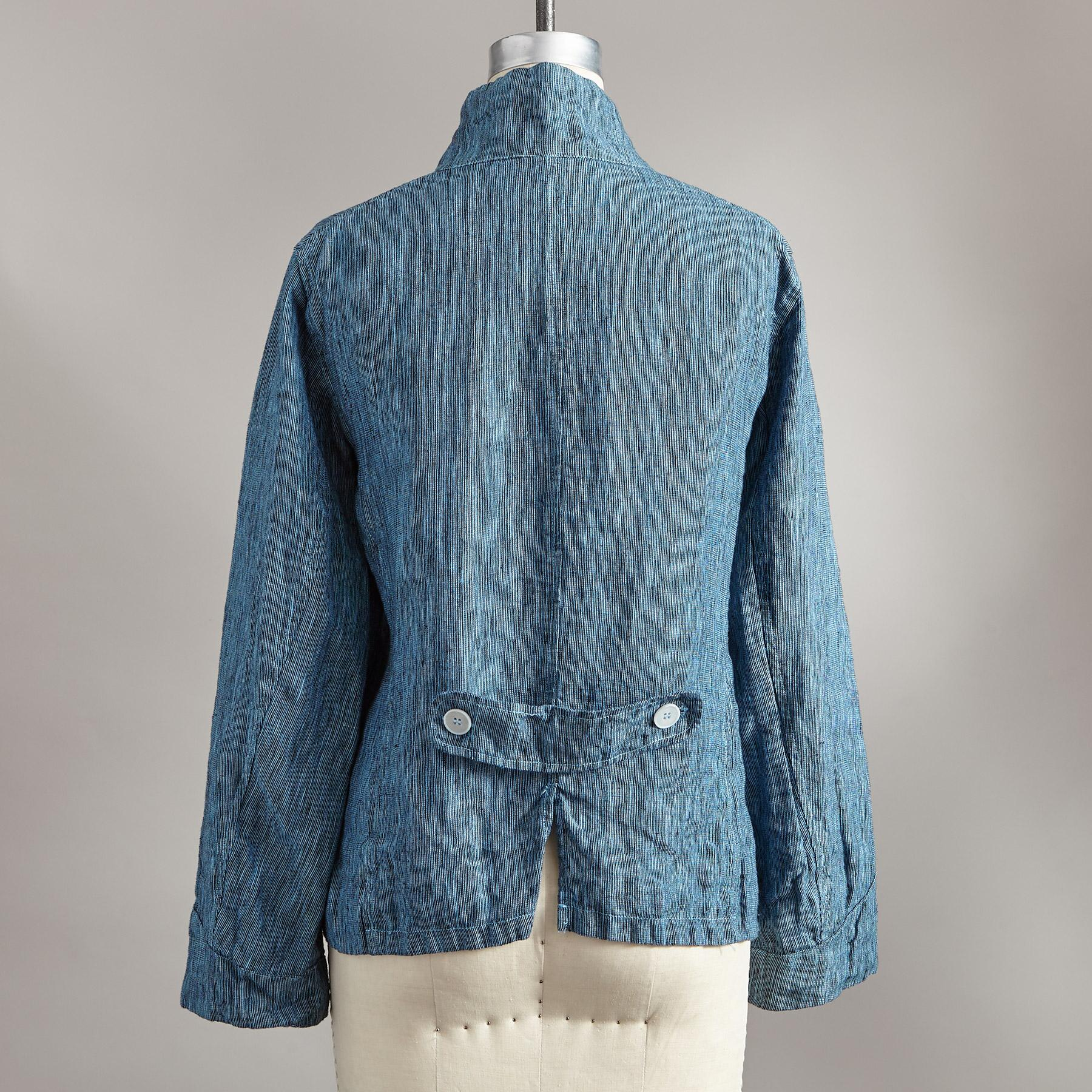 DREE PEBBLED LINEN JACKET: View 2