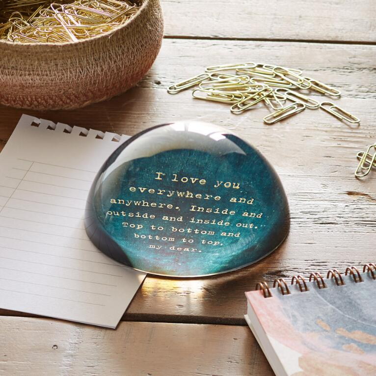 I LOVE YOU PAPERWEIGHT