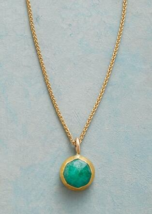 WRAPPED EMERALD NECKLACE