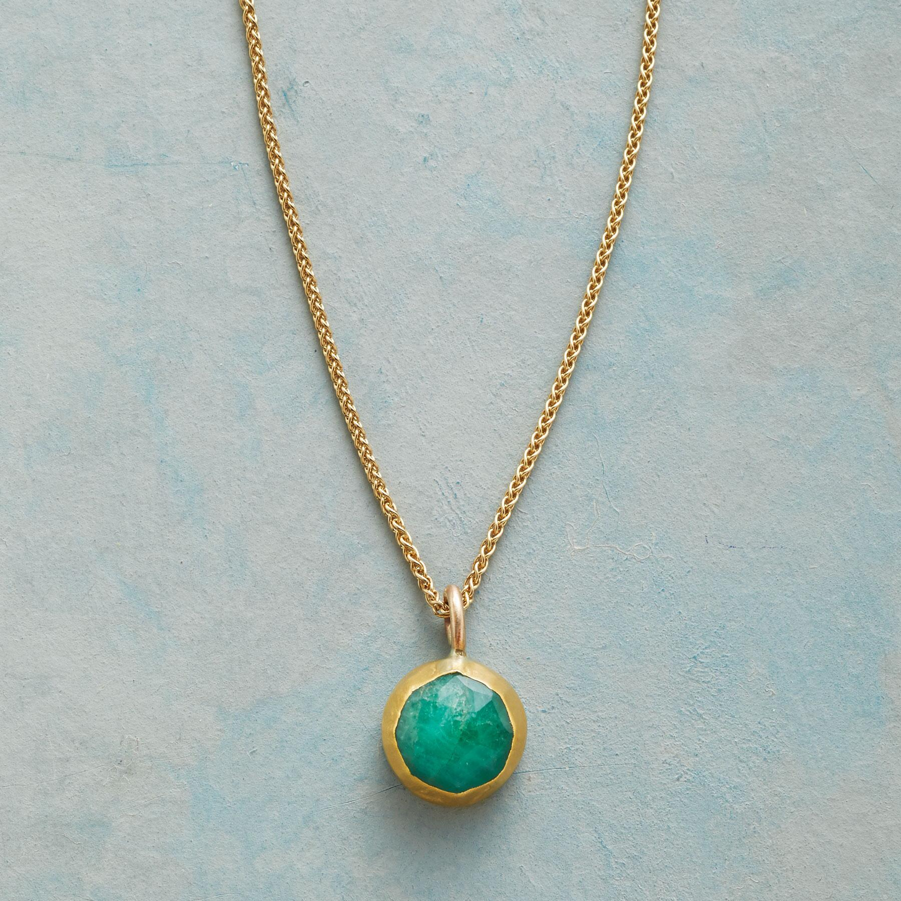 WRAPPED EMERALD NECKLACE: View 1