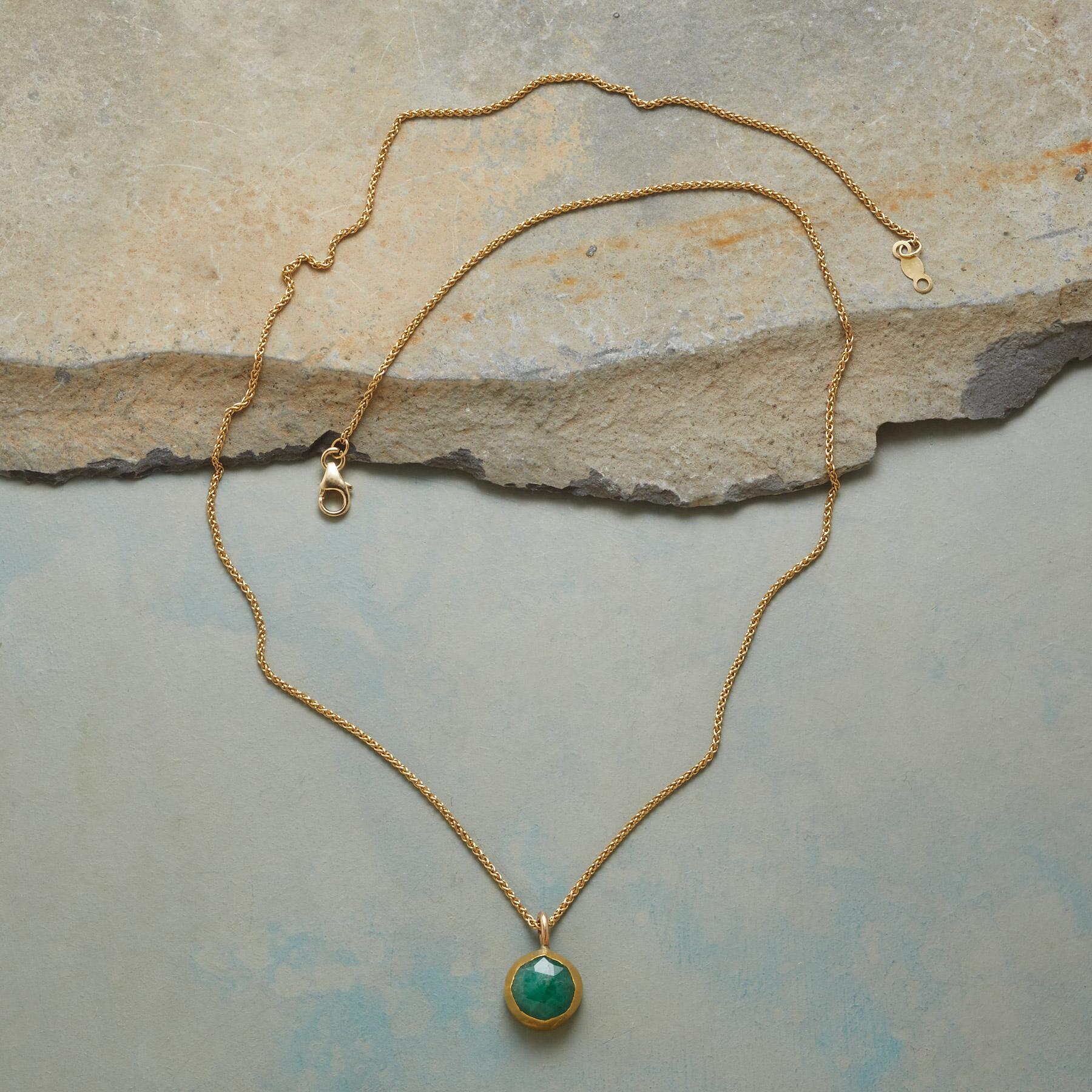 WRAPPED EMERALD NECKLACE: View 2