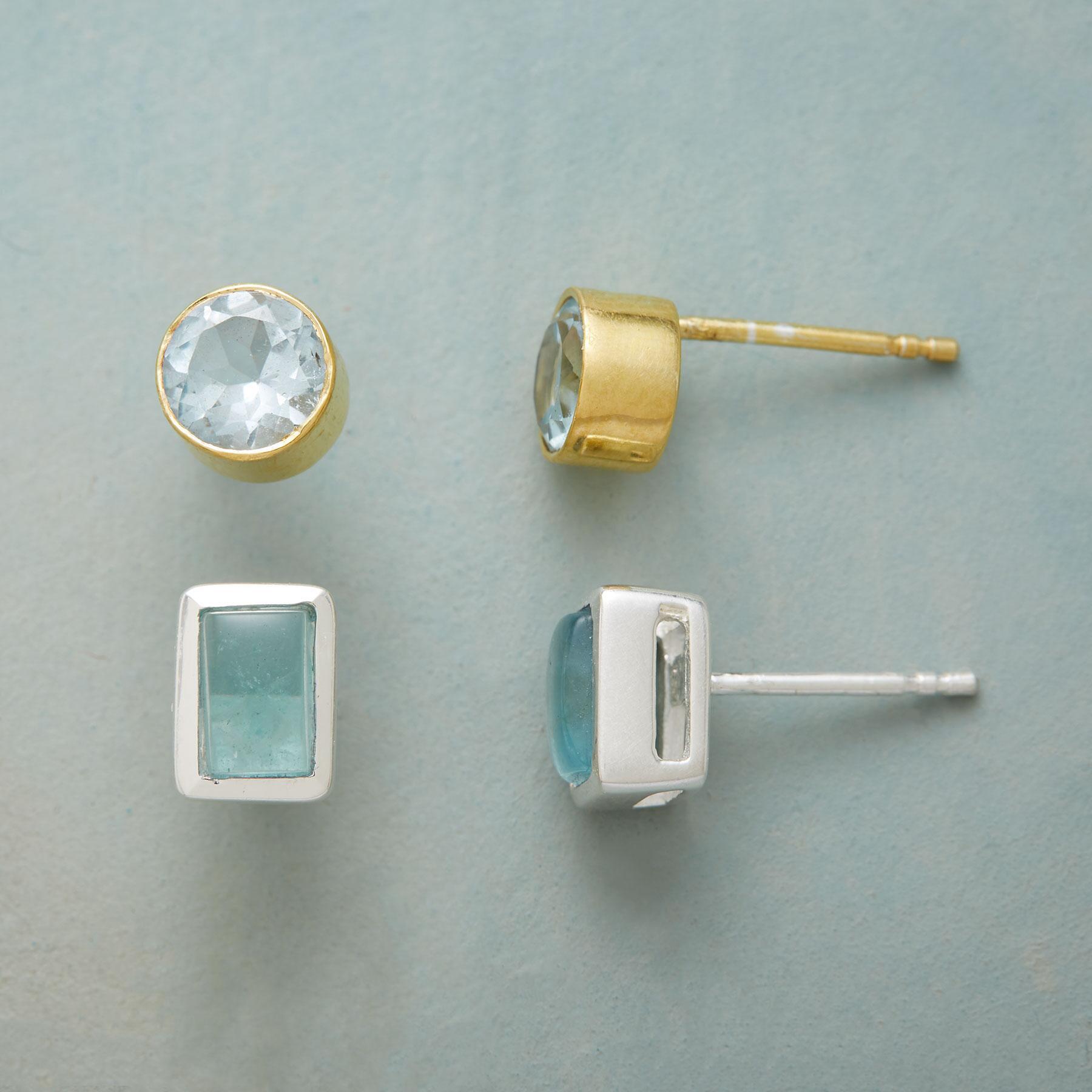 BLUE DUO EARRING SET: View 1