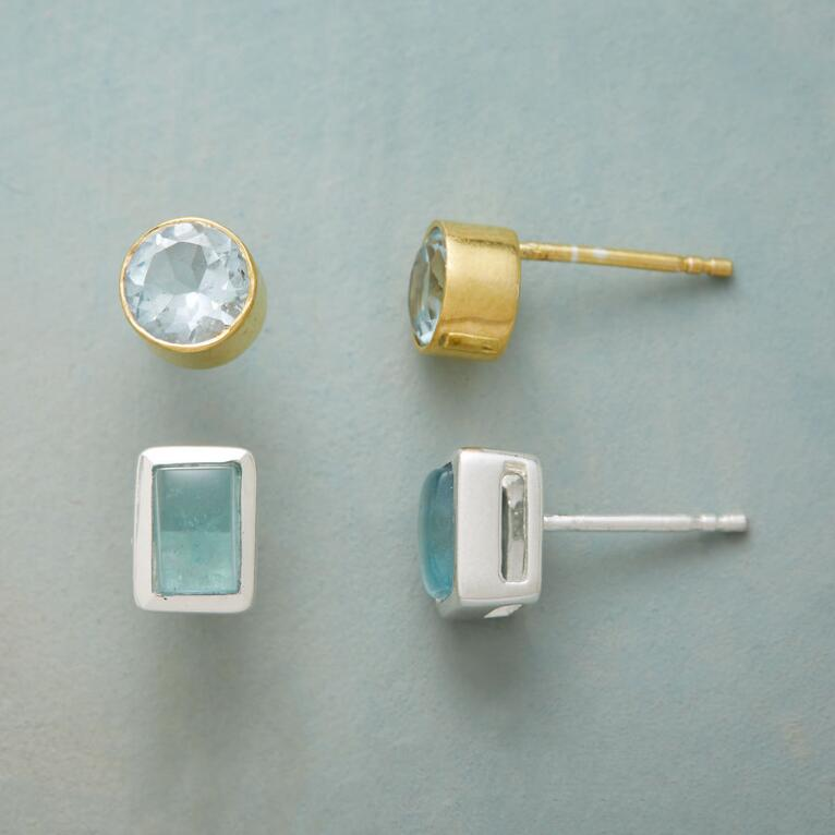 BLUE DUO EARRING SET